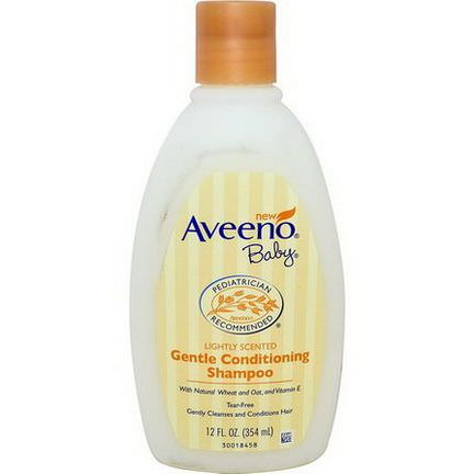 Aveeno, Baby, Gentle Conditioning Shampoo, Lightly Scented 354ml