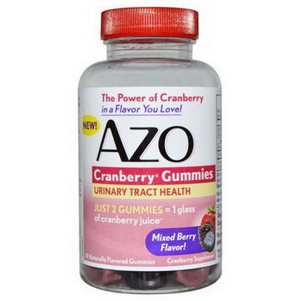 Azo, Cranberry Gummies, Mixed Berry Flavor, 40 Gummies