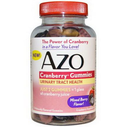 Azo, Cranberry Gummies, Mixed Berry Flavor, 72 Gummies