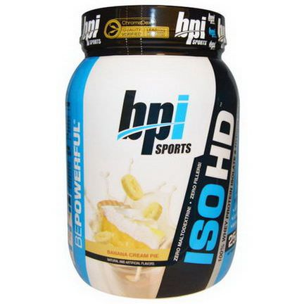 BPI Sports, ISO HD, 100% Whey Protein Isolate&Hydrolysate, Banana Cream Pie 720g