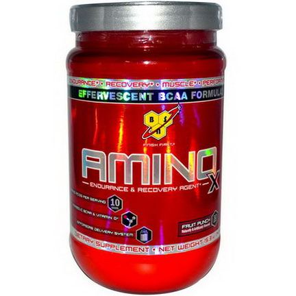 BSN, Amino-X, Endurance&Recovery Agent, Fruit Punch 435g