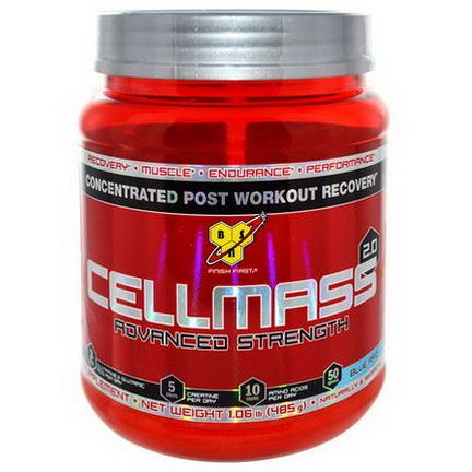 BSN, CellMass 2.0, Concentrated Post Workout Recovery, Blue Raz 485g