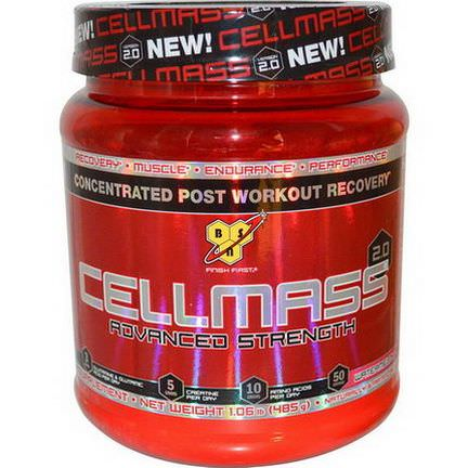 BSN, Cellmass 2.0, Concentrated Post Workout Recovery, Watermelon 485g