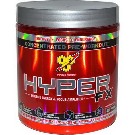 BSN, Hyper FX, Extreme Energy&Focus Amplifier, Fruit Punch 282g