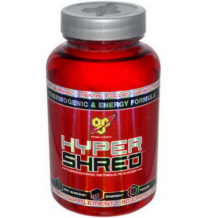 BSN, Hyper Shred, Thermodynamic Metabolic Activator, 90 Capsules