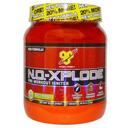 BSN, N.O.-XPlode, Pre-Workout Igniter, Green Apple 1.11 kg
