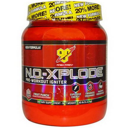 BSN, N.O.-Xplode, Pre-Workout Igniter, Fruit Punch 1.11 kg