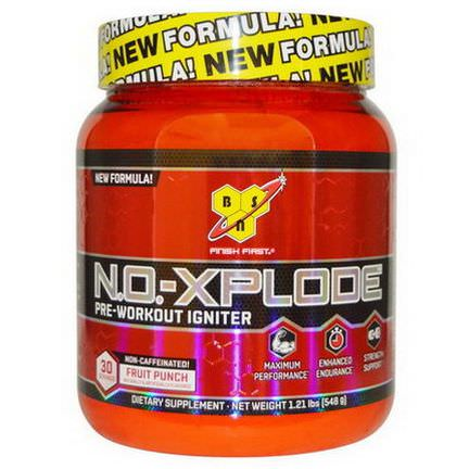 BSN, N.O.-Xplode, Pre-Workout Igniter, Non-Caffeinated, Fruit Punch 548g