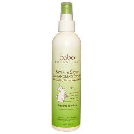 Babo Botanicals, Swim&Sport Detangling Spray, Cucumber Aloe Vera 237ml