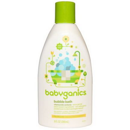 BabyGanics, Bubble Bath, Chamomile Verbena 266ml