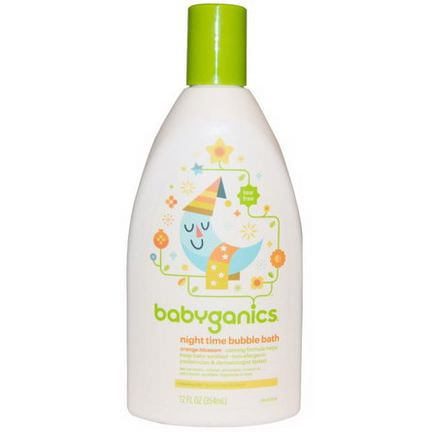 BabyGanics, Night Time Bubble Bath, Orange Blossom 354ml