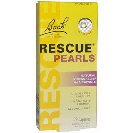 Bach, Original Flower Remedies, Rescue Pearls, Natural Stress Relief in a Capsule, 28 Capsules