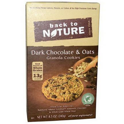 Back to Nature, Dark Chocolate&Oats Granola Cookies 240g