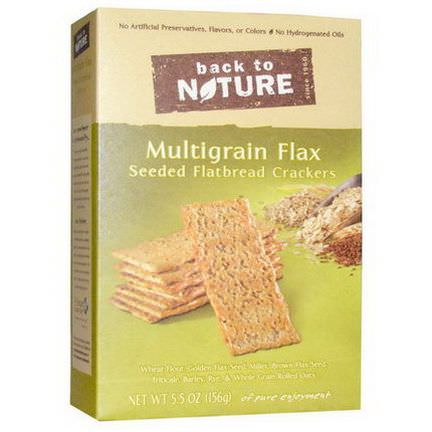 Back to Nature, Multigrain Flax Seeded Flatbread Crackers 156g