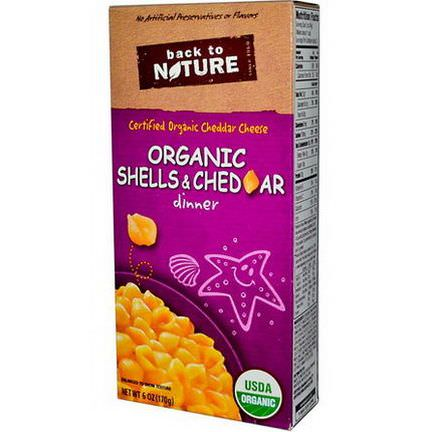 Back to Nature, Organic Shells&Cheddar Dinner 170g
