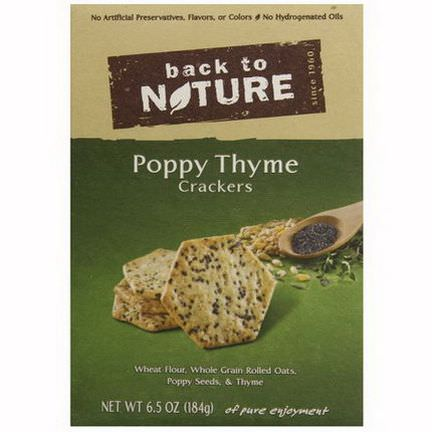Back to Nature, Poppy Thyme Crackers 184g