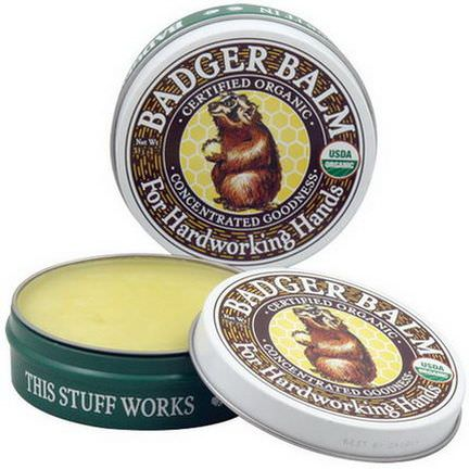 Badger Company, Badger Balm, For Hardworking Hands 21g