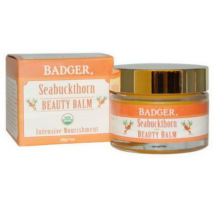 Badger Company, Beauty Balm, Seabuckthorn 28g