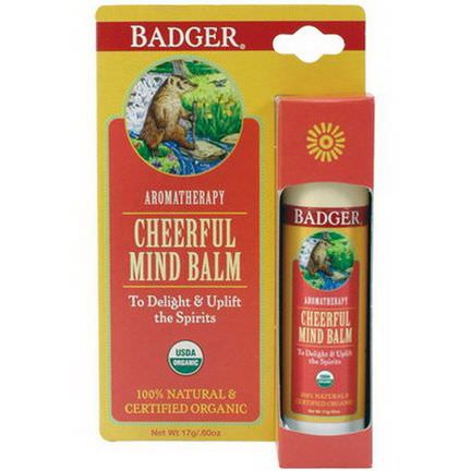 Badger Company, Cheerful Mind Balm, Sweet Orange&Spearmint 17g