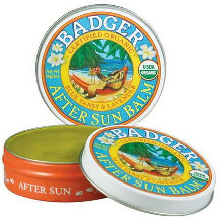 Badger Company, Organic, After Sun Balm, Blue Tansy&Lavender 56g