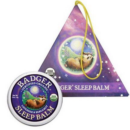 Badger Company, Organic Badger Sleep Balm Ornament, Lavender&Bergamot 21g