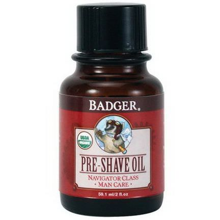 Badger Company, Organic, Pre-Shave Oil, Navigator Class, Man Care 59.1ml