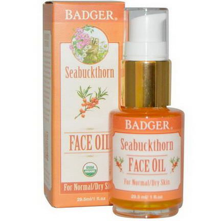 Badger Company, Seabuckthorn Face Oil, For Normal/Dry Skin 29.5ml