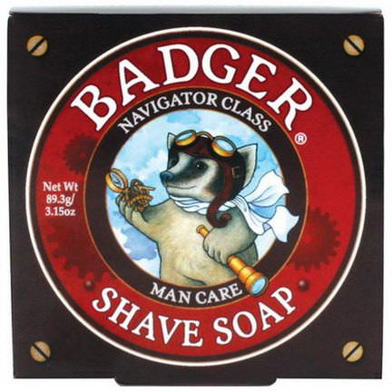 Badger Company, Shave Soap, Navigator Class, Man Care 89.3g