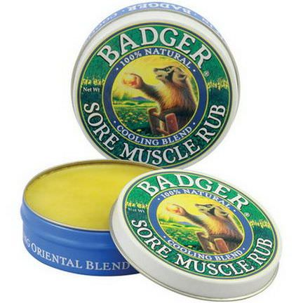Badger Company, Sore Muscle Rub, Cooling Blend 21g