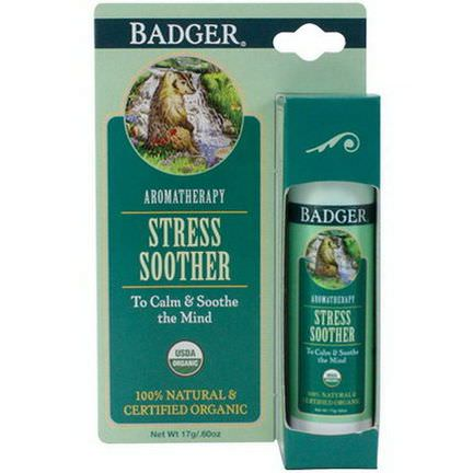 Badger Company, Stress Soother, Tangerine&Rosemary 17g