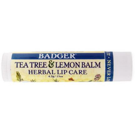 Badger Company, Tea Tree&Lemon Balm Herbal Lip Care 4.2g