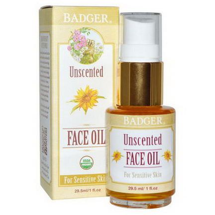 Badger Company, Unscented Face Oil, For Sensitive Skin 29.5ml