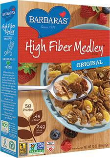 Barbara's Bakery, High Fiber Medley Cereal, Original 340g