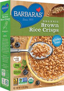Barbara's Bakery, Organic, Brown Rice Crisps Cereal 284g