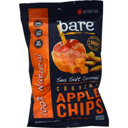 Bare Fruit, Crunchy Apple Chips, Sea Salt Caramel 48g