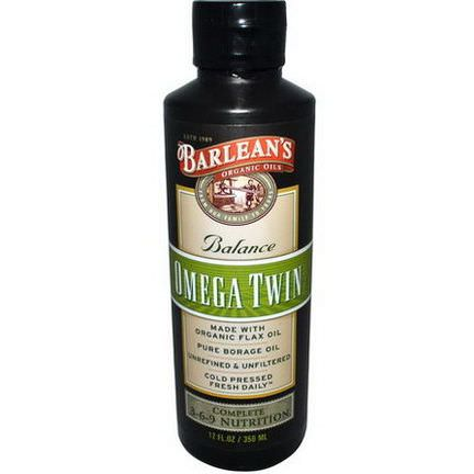 Barlean's, Omega Twin, Complete 3-6-9 Nutrition 350ml