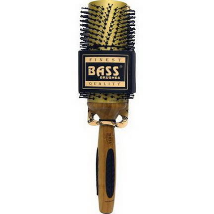 Bass Brushes, Professional Length Round, Extra Large Nylon Gold Ceramic, 1 Base Brush