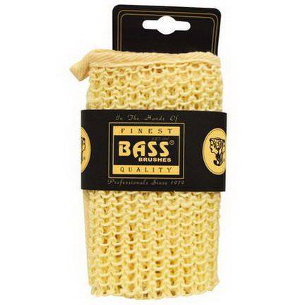 Bass Brushes, Sisal Cloth, 100% Natural Fibers, Large Wash Cloth, Firm, 1 Piece
