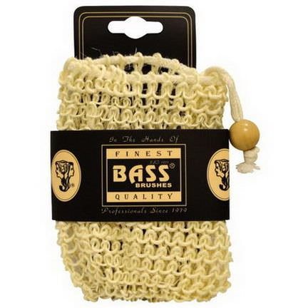 Bass Brushes, Sisal Soap Holder Pouch, with Drawstring, 100% Natural Fibers, Firm, 1 Piece