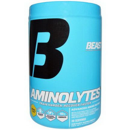 Beast Sports Nutrition, Aminolytes, Advanced Amino Matrix, Pineapple Flavor 428g