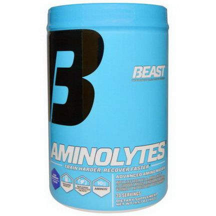 Beast Sports Nutrition, Aminolytes, Blue Raspberry 416g