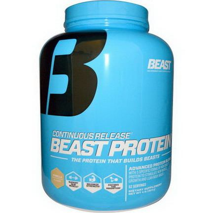 Beast Sports Nutrition, Continuous Release Beast Protein, Vanilla 1814g