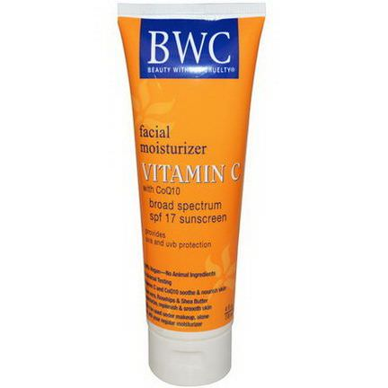 Beauty Without Cruelty, Facial Moisturizer, Vitamin C with CoQ10, SPF 17 118ml