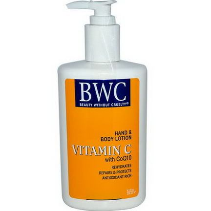 Beauty Without Cruelty, Hand and Body Lotion, Vitamin C, with CoQ10 250ml