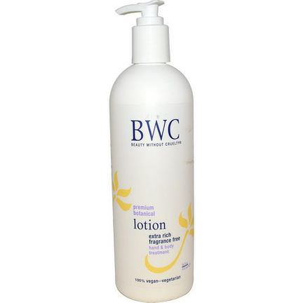 Beauty Without Cruelty, Premium Botanical Lotion, Extra Rich, Fragrance Free 473ml