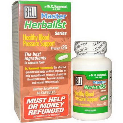 Bell Lifestyle, Master Herbalist Series, Healthy Blood Pressure Support, 60 Capsules