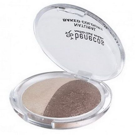 Benecos, Natural Baked Duo Eyeshadow, Celebrate, 4g