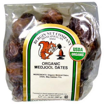 Bergin Fruit and Nut Company, Organic Medjool Dates 397g