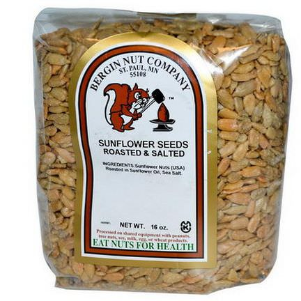 Bergin Fruit and Nut Company, Sunflower Seeds, Roasted&Salted, 16 oz