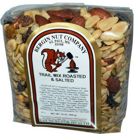 Bergin Fruit and Nut Company, Trail Mix Roasted&Salted 454g